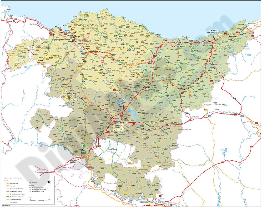 Euskadi map