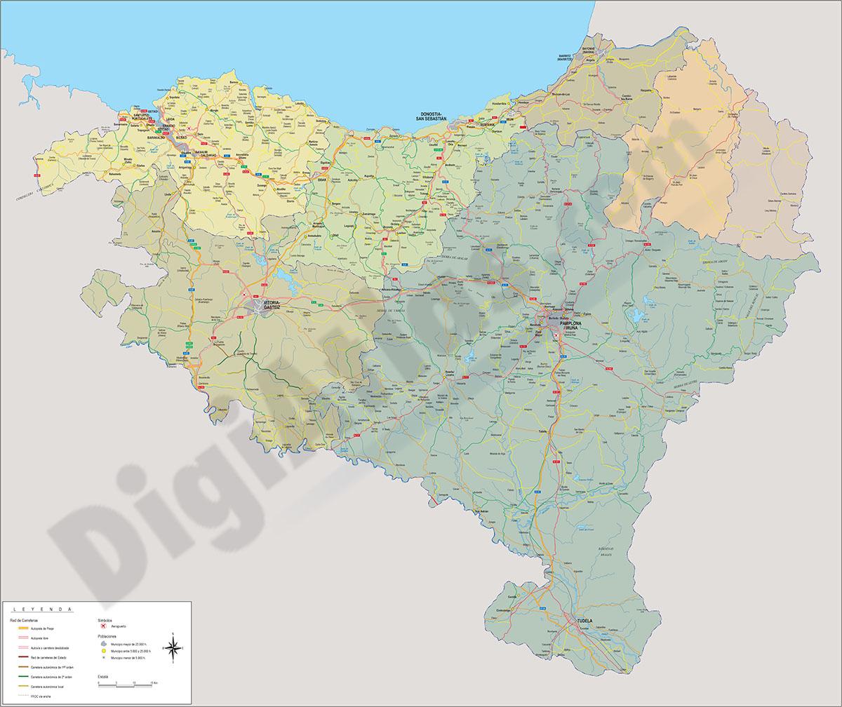 Mapa de Euskal Herria