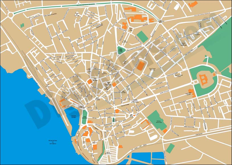 Faro (Portugal) city map