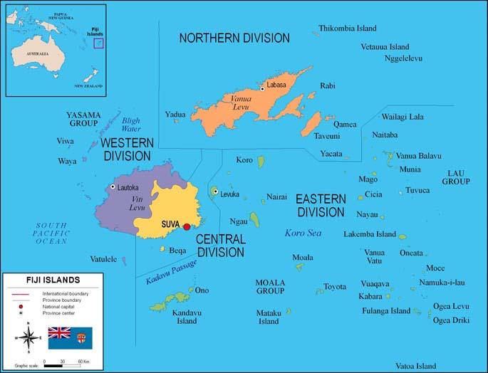 Mapa de Fiji