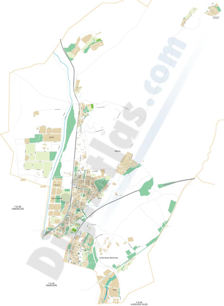 Les Franqueses - city map