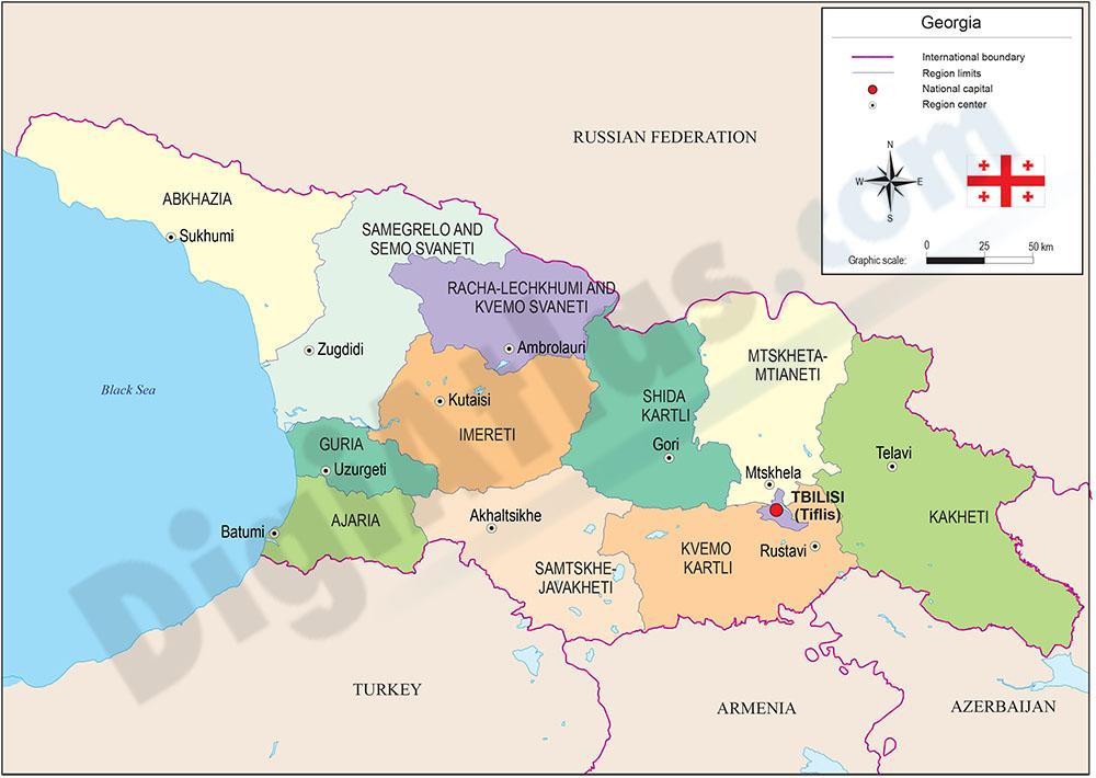 Map of Georgia
