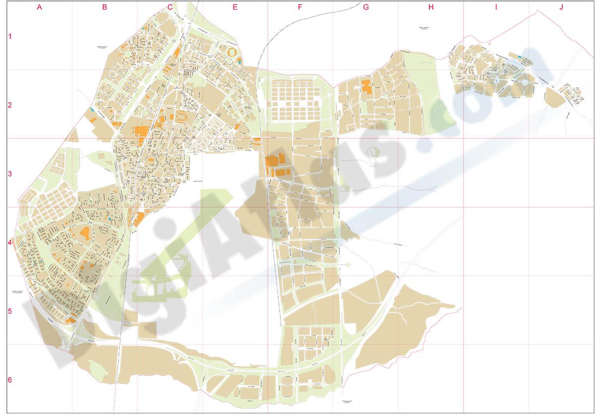 Getafe - city map
