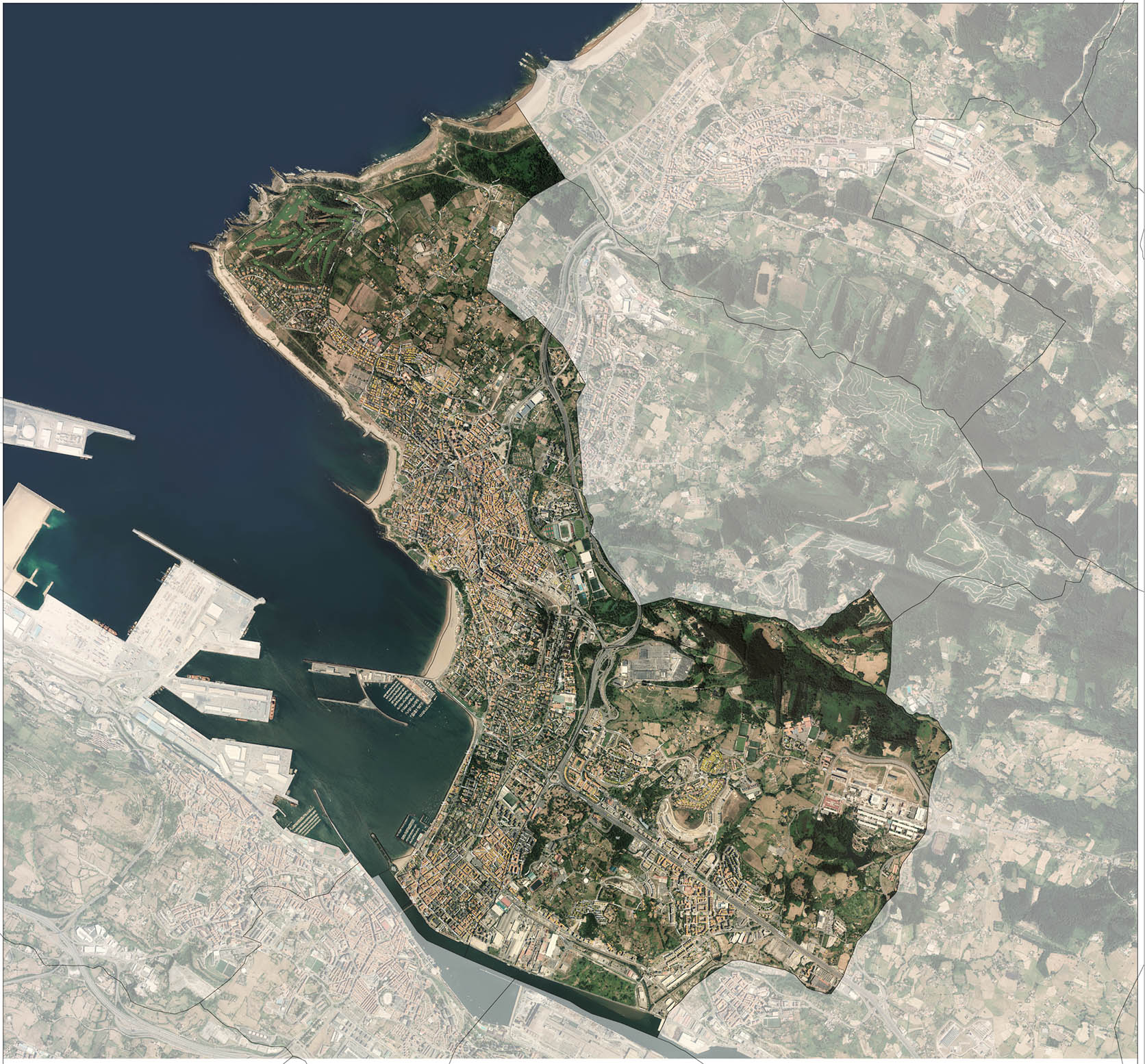 Getxo and Leioa - digital map
