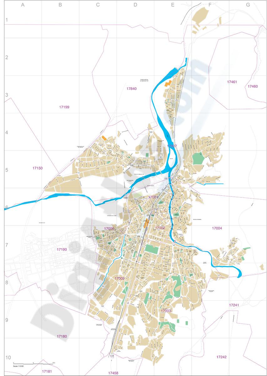 Girona (Catalonia) city map