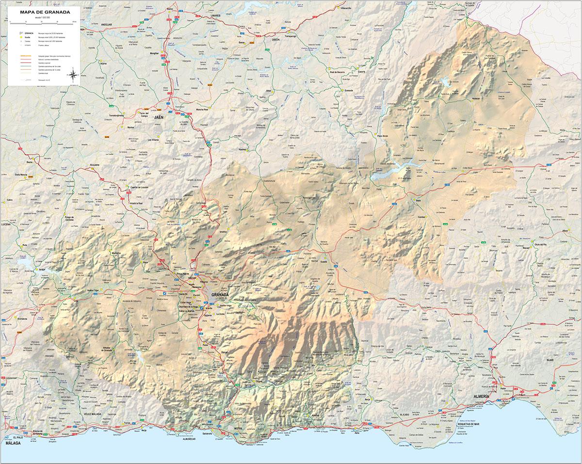 Mapa de la provincia de Granada