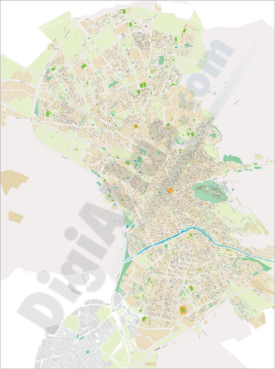 Granada - plano callejero