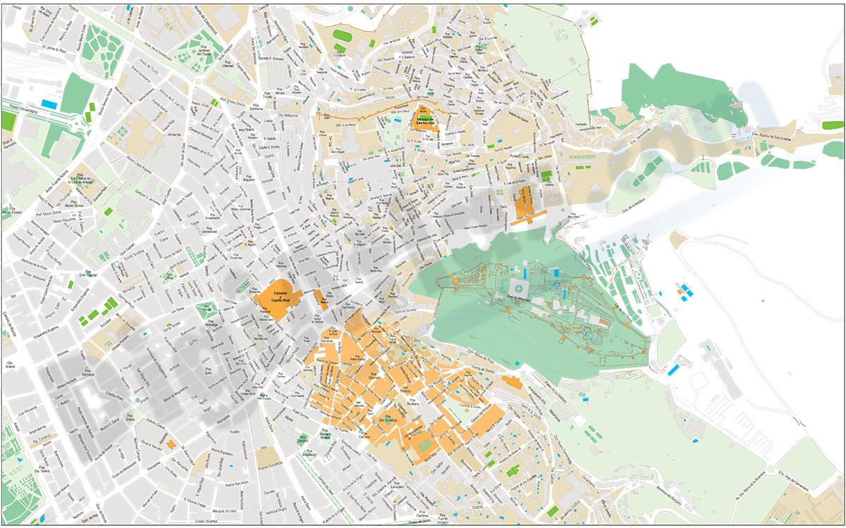 Granada - City centre map