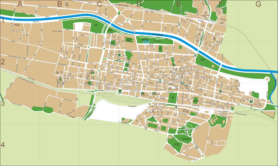 Granollers (Barcelona) city map