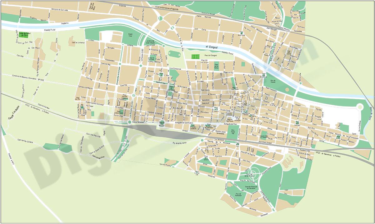 Granollers - plano callejero