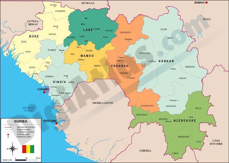 Mapa de Guinea