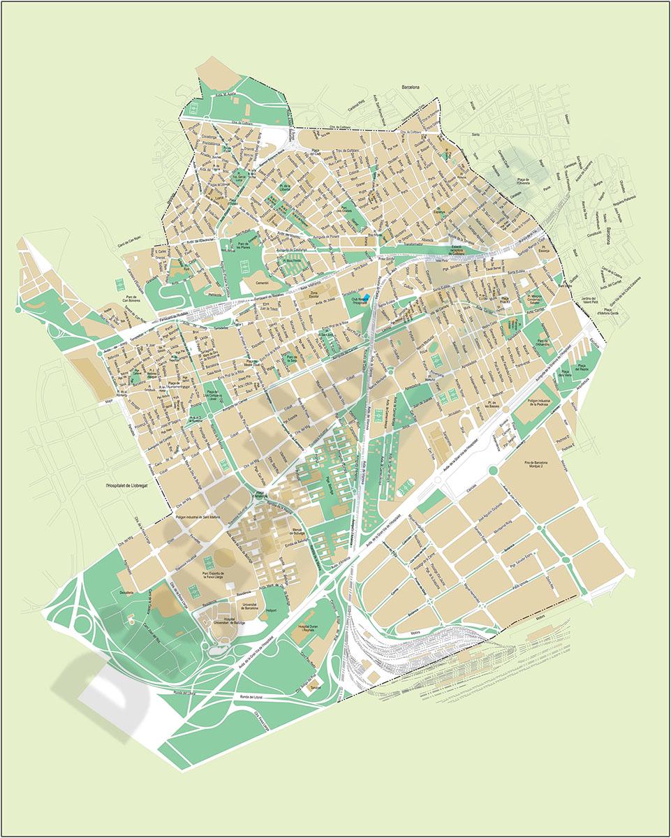 Mapa De L Hospitalet.L Hospitalet De Llobregat Plano Callejero