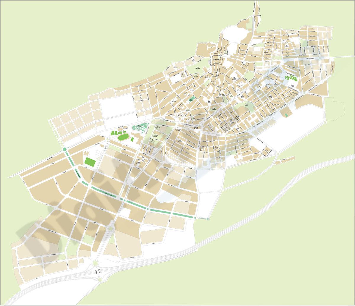 Ibi (Alicante) - plano callejero