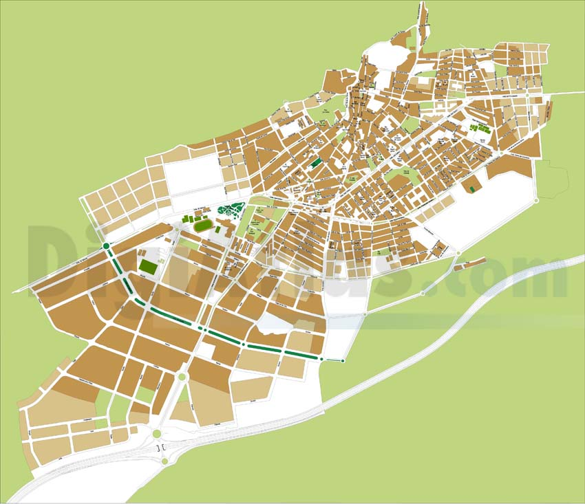 Ibi (Alicante) city map