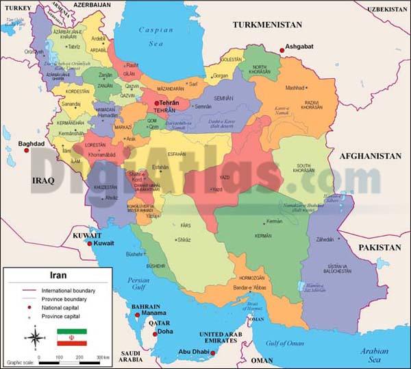 Mapa de Irán