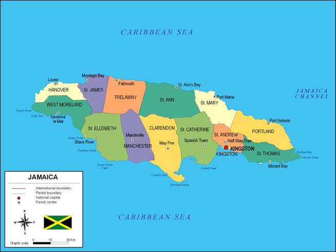 Mapa de Jamaica
