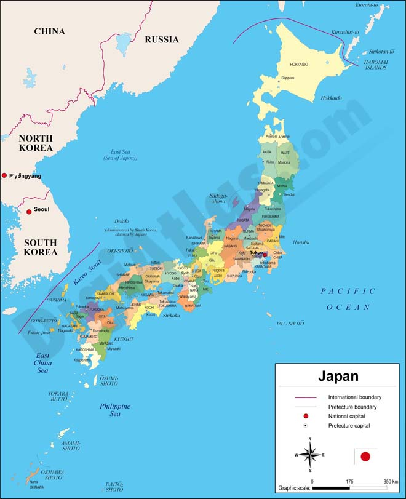 Mapa de Japón