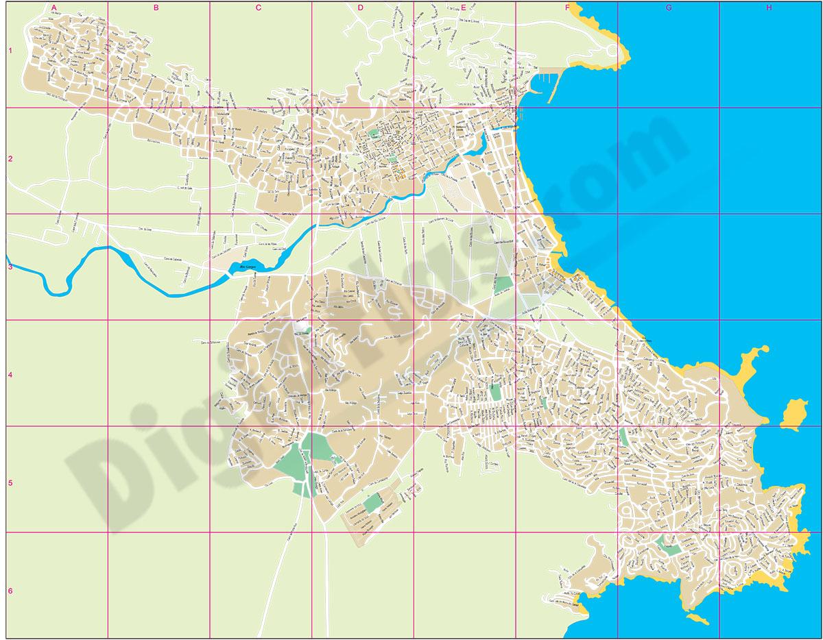 Javea - Xabia - city map