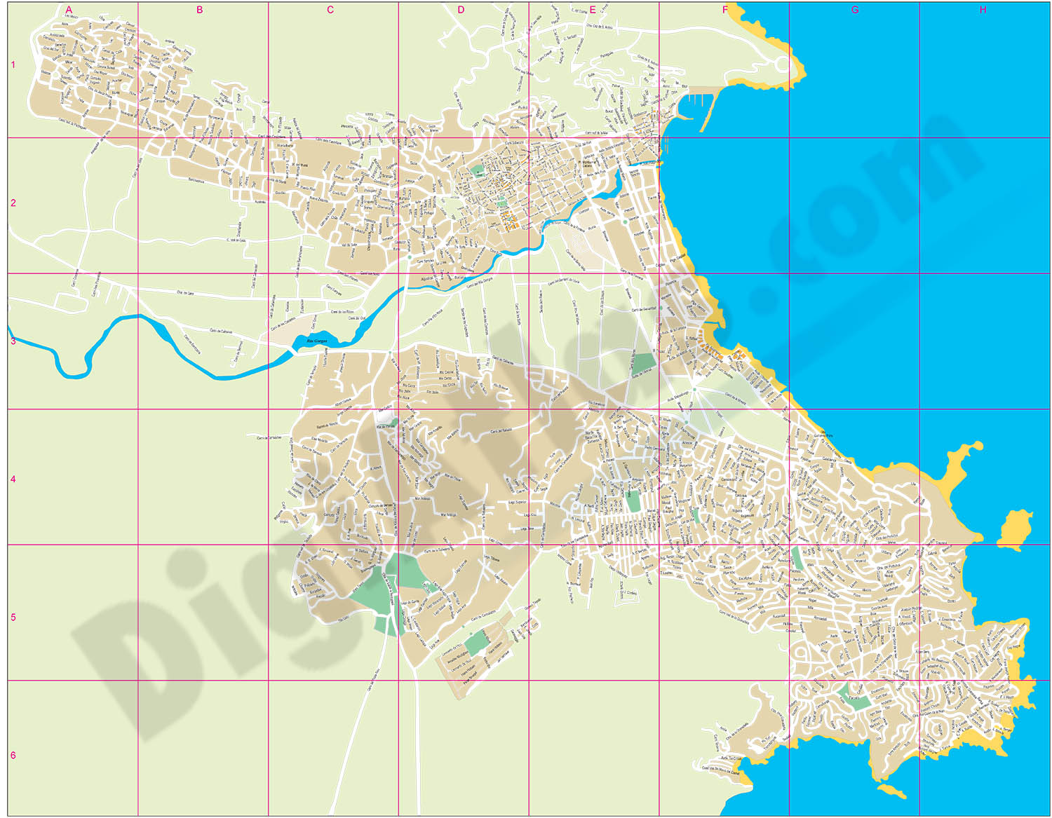 Javea - Xabia - city map