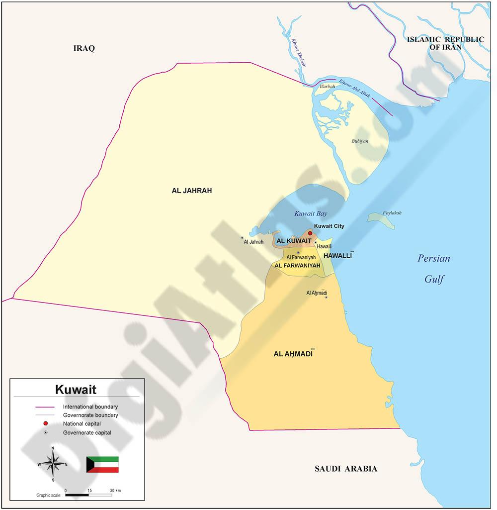 Mapa de Kuwait