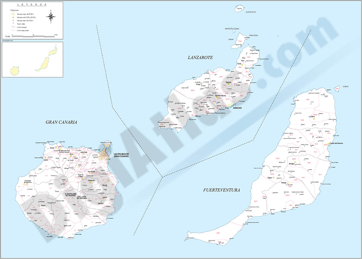 Map Of Spain Gran Canaria.Digiatlas Digital Maps And Cartography
