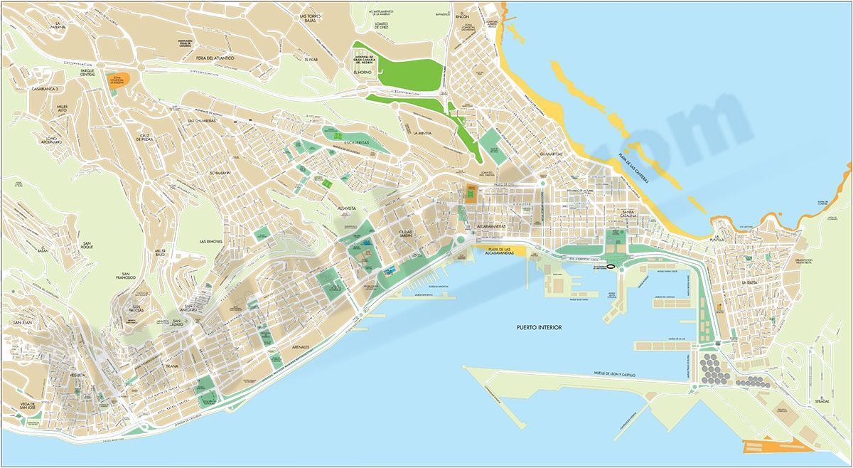 Las Palmas de Gran Canaria - city map