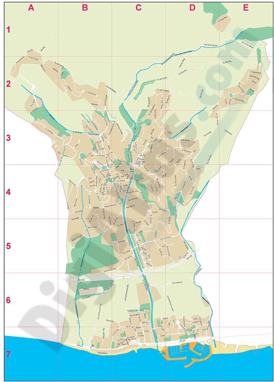 Sant Andreu de Llavaneres - city map