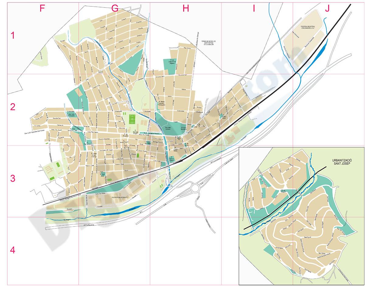 Llinars del Vallès - city map