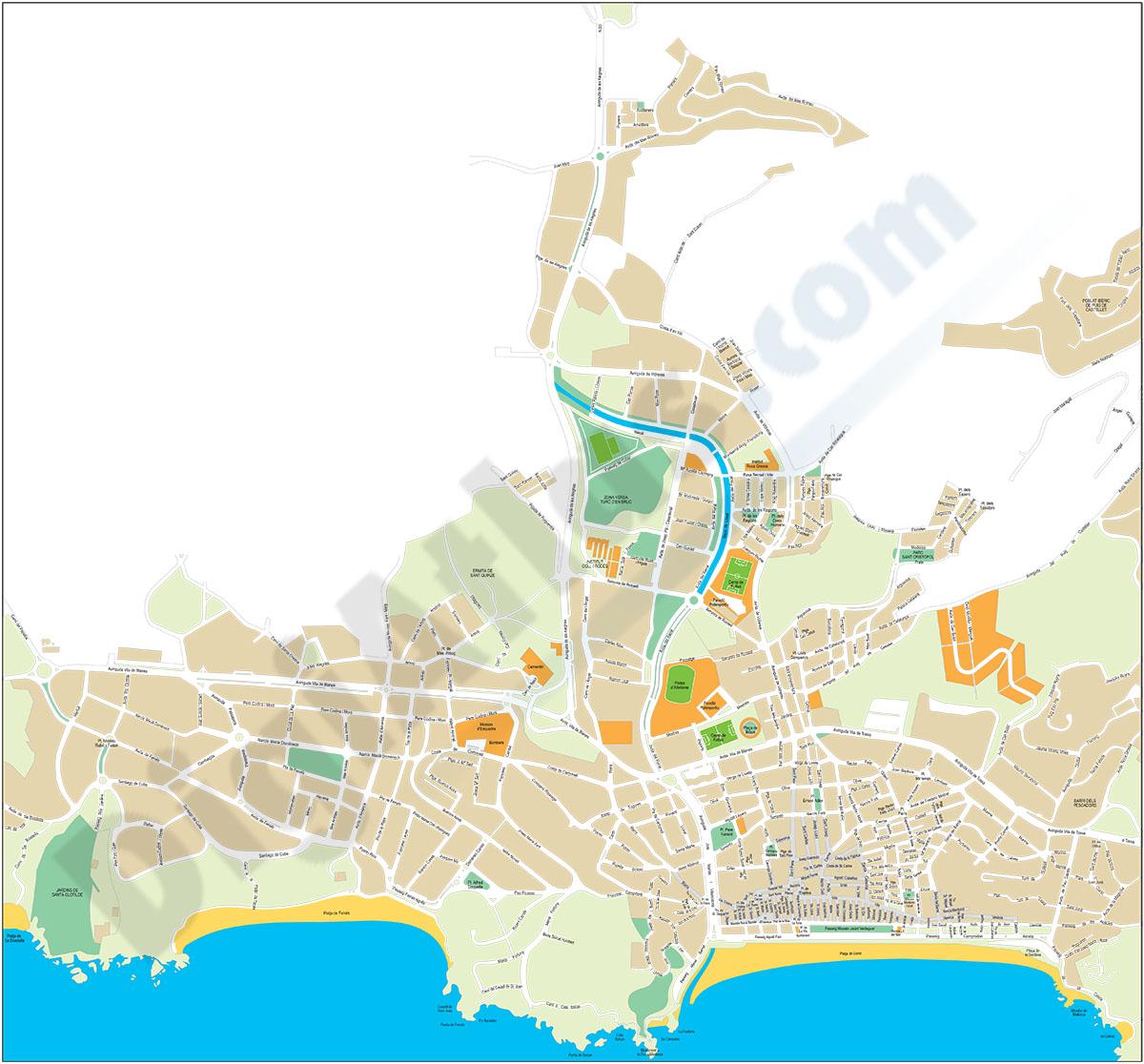 Lloret de mar girona city map