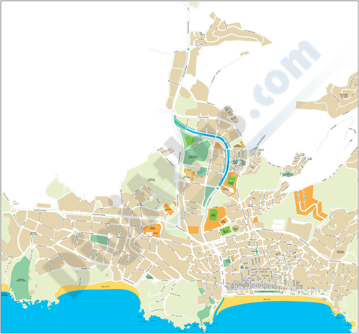 Lloret de Mar (Girona) - city map