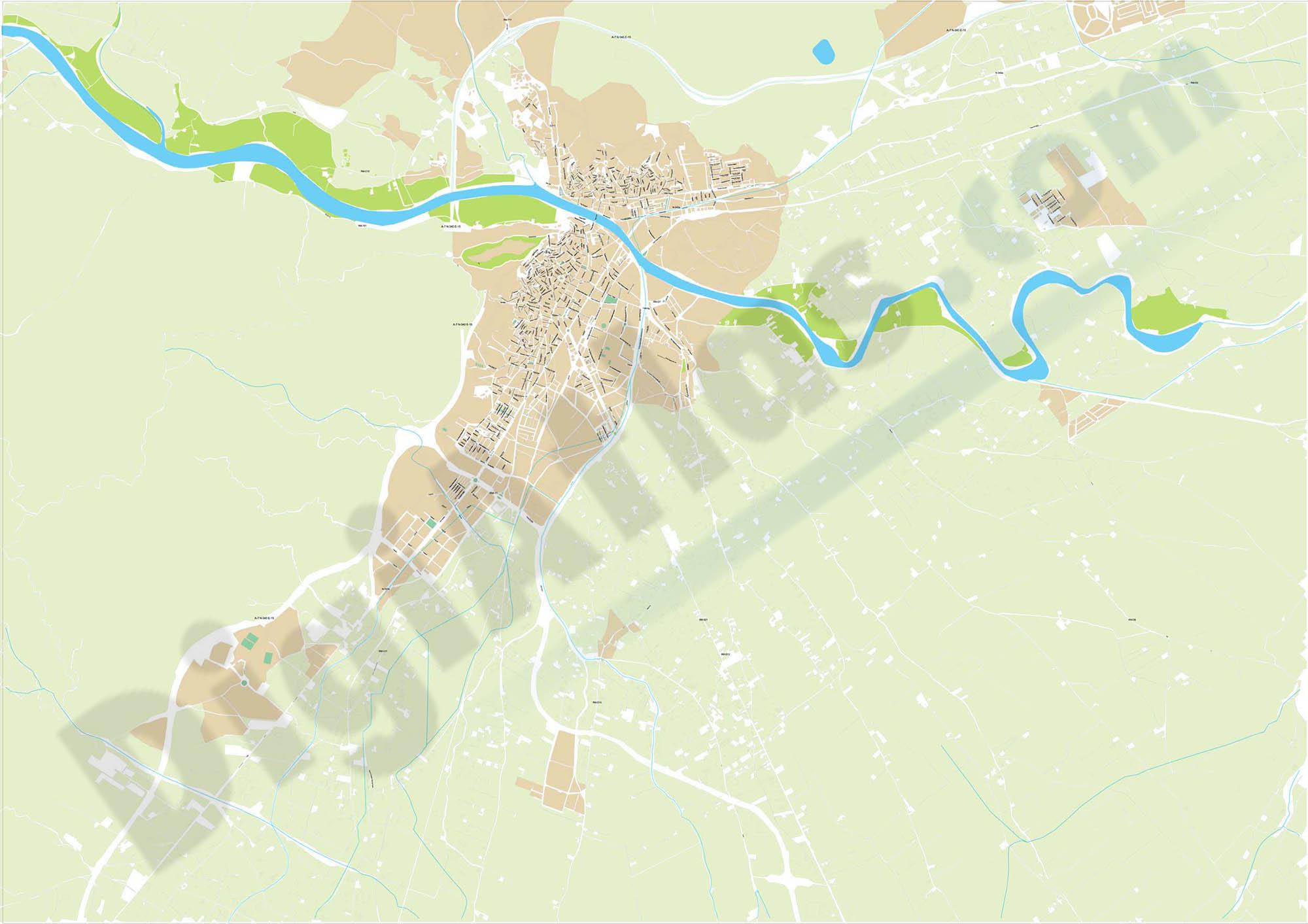 Lorca (Murcia) - plano callejero ampliado