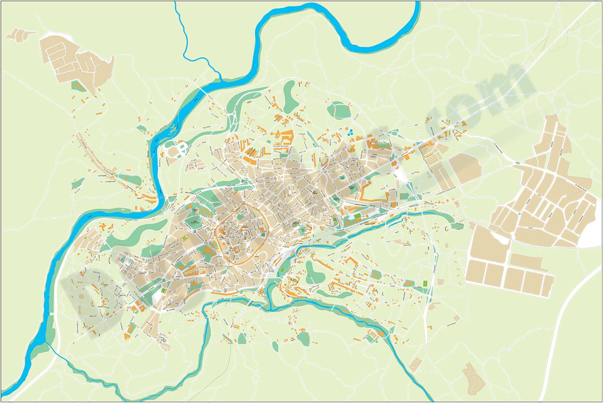 Lugo (Galicia, Spain) - city map