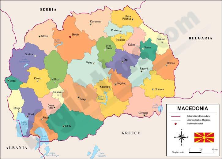 macedonia mapa Map of Macedonia macedonia mapa