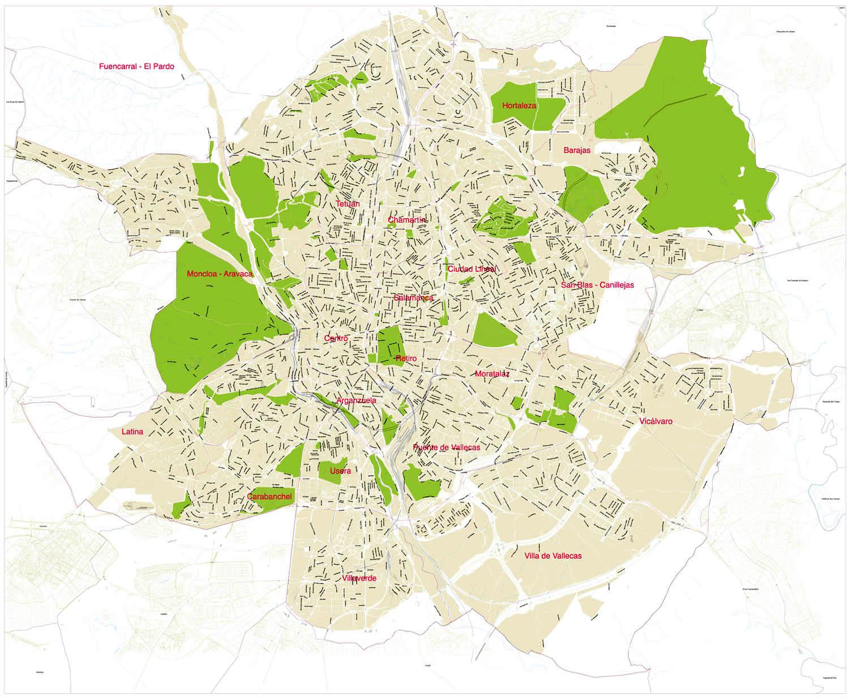 Mapa general de madrid for Mapa de codigos postales de madrid capital