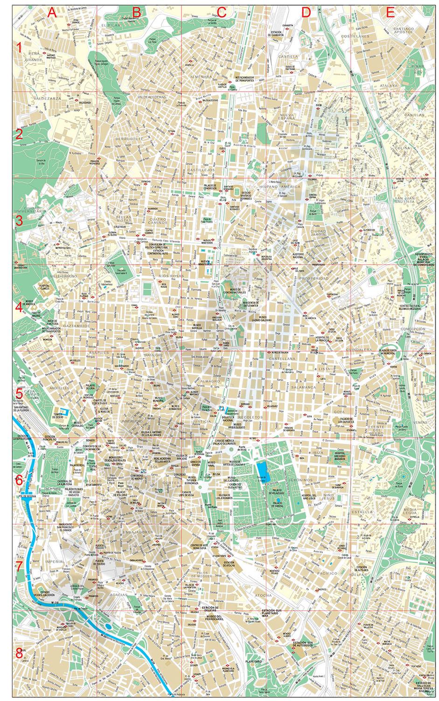 Madrid center city map
