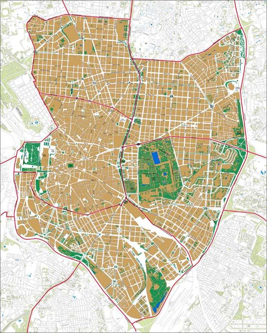 Madrid mapa de distritos - Zona chamberi madrid ...