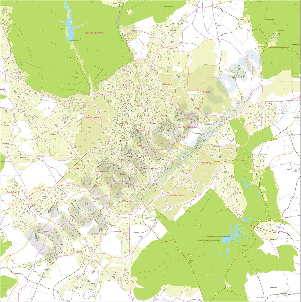 Mapa del Área Metropolitana de Madrid