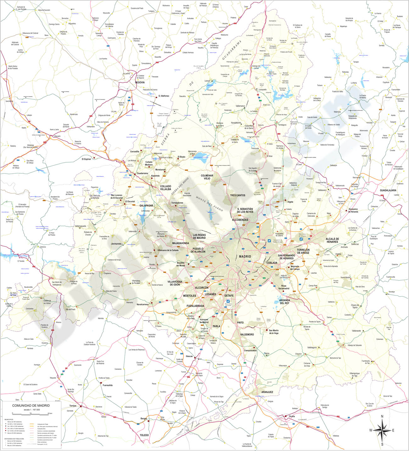 Madrid - detailed map of Community