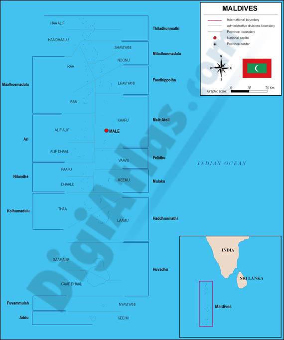Mapa de Maldivas