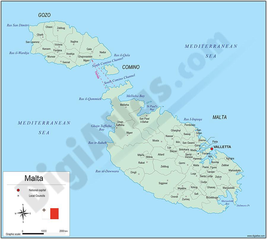 Mapa de Malta