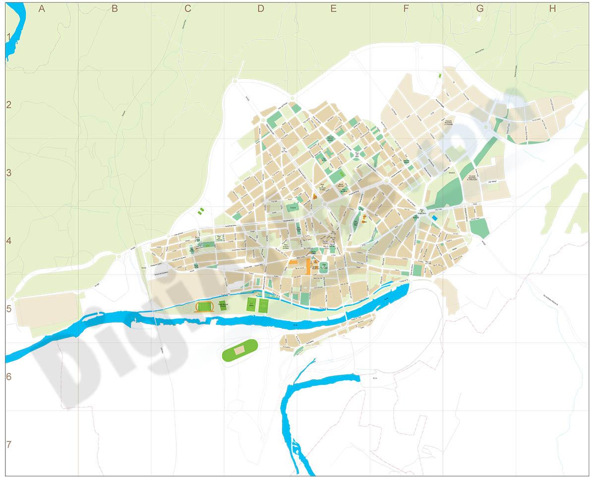 Manlleu (Barcelona) city map