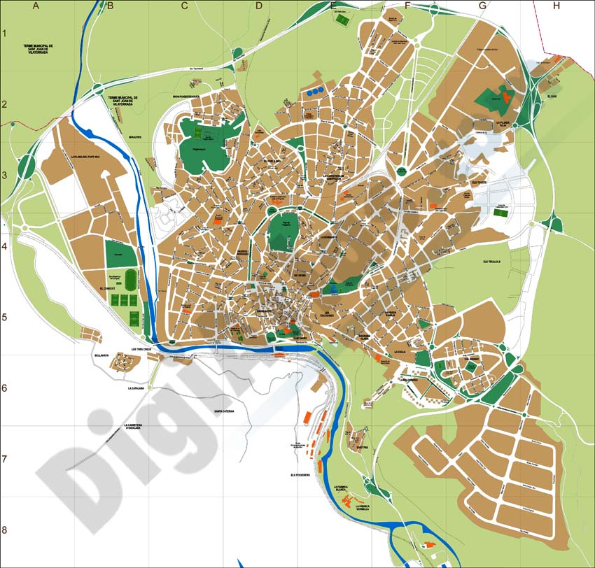 Manresa city map