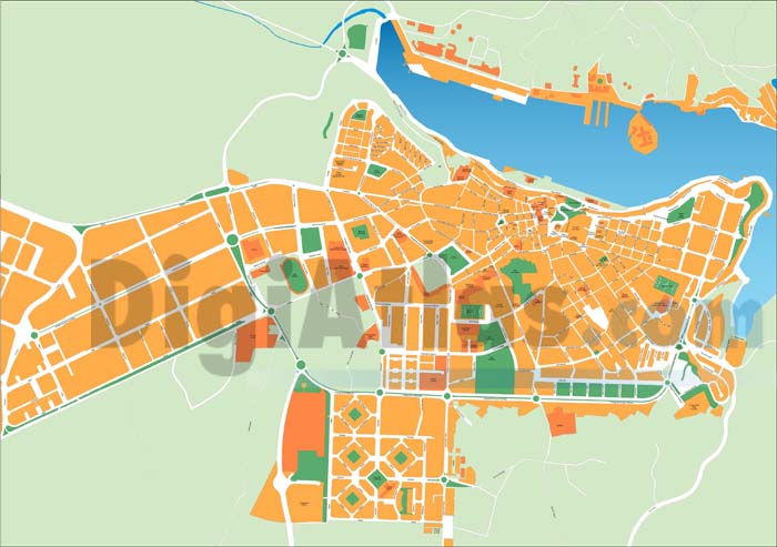 Maó (Mahon, Minorca, Balearic Islands, Spain) - city map