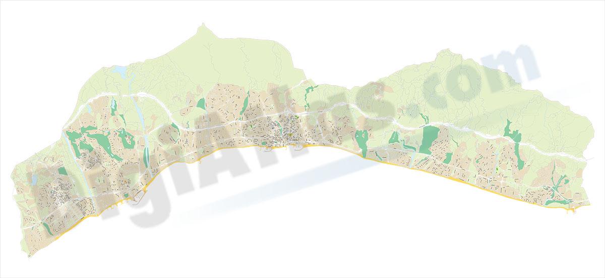 Marbella - city map