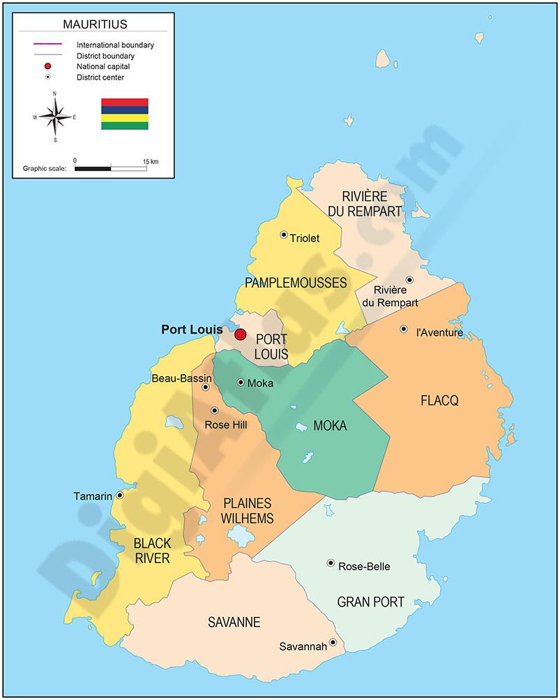 Mapa de Mauricio
