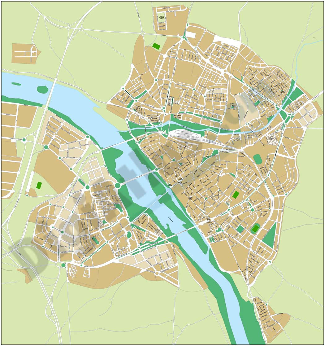 Merida - city map