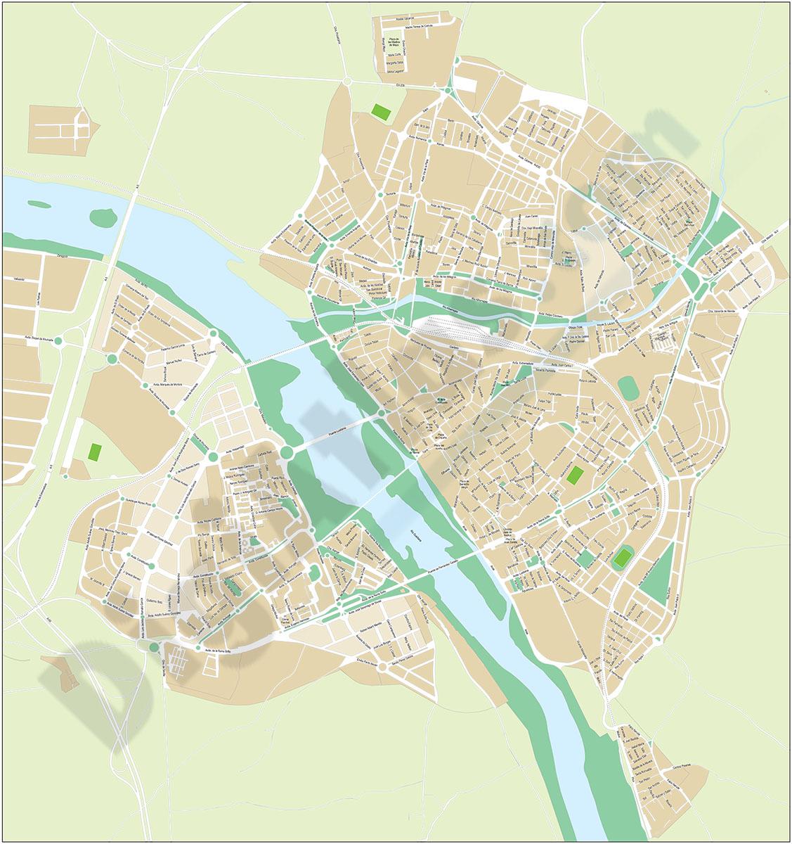 Merida - city map