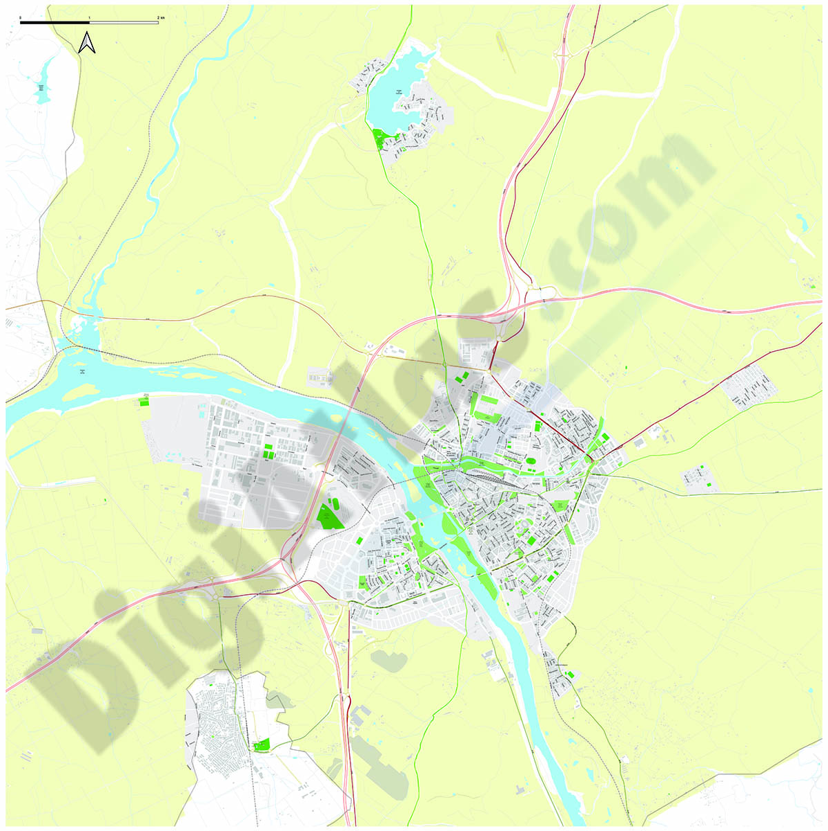 Mérida - plano area urbana