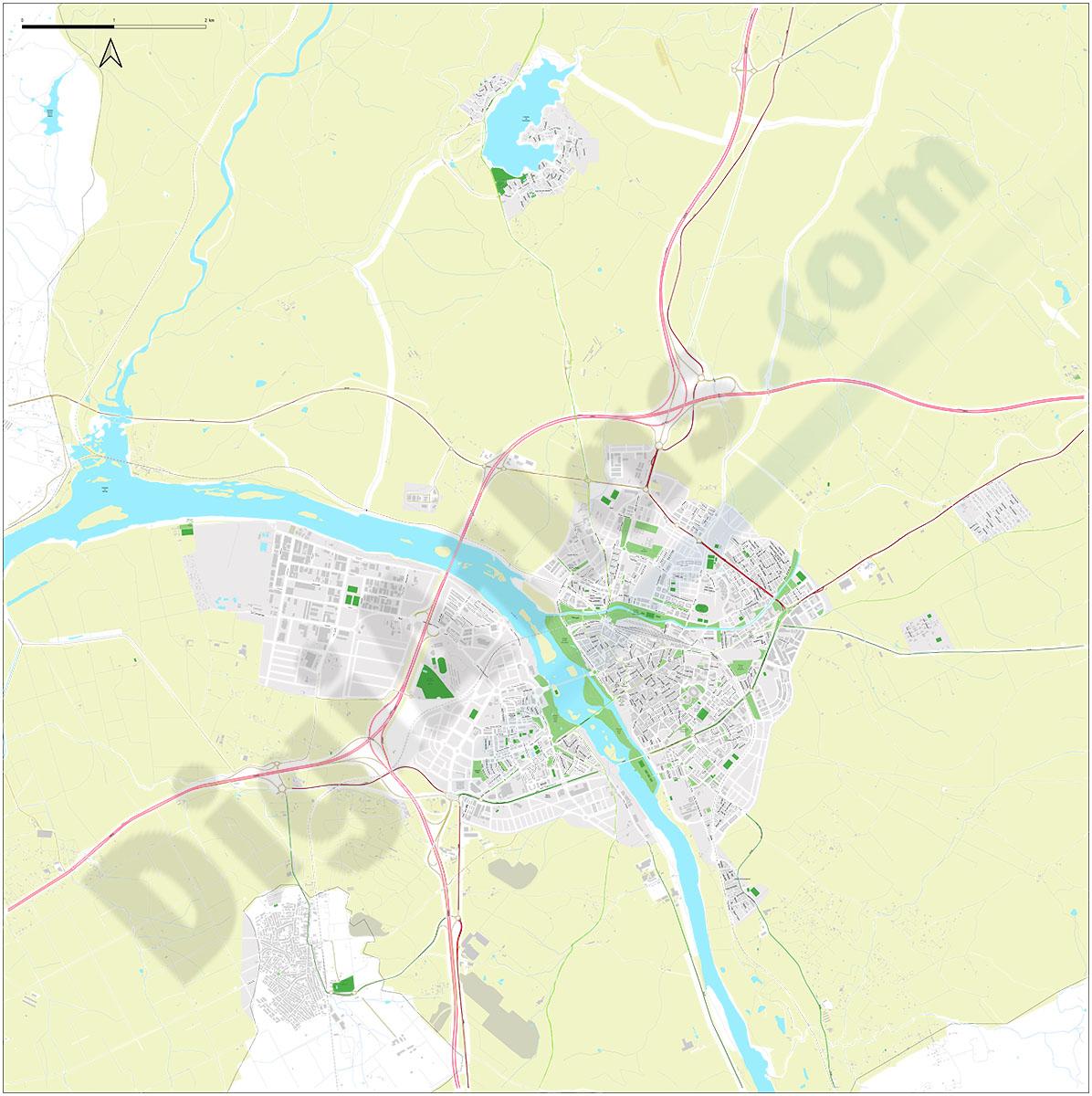 Merida - urban area map