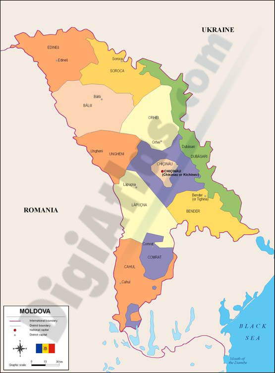 Map of Moldova